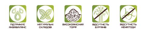 Торф'яний субстрат для квітів ECO PLUS